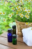 Istotni oleje dla aromatherapy Fotografia Royalty Free