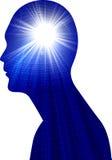 Istoty ludzkiej głowy władza ilustracja wektor