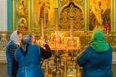 ISTRA,俄罗斯- 2019年3月23日:新耶路撒冷修道院 库存图片