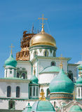Istra. Big domes in the New Jerusalem Monastery. The monastery was founded in 1656 by Patriarch Nikon, for which a plan of Moscow was to be re-created set of the Royalty Free Stock Photos