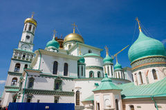 Istra. New Jerusalem Monastery. The monastery was founded in 1656 by Patriarch Nikon, for which a plan of Moscow was to be re-created set of the holy places in Royalty Free Stock Images
