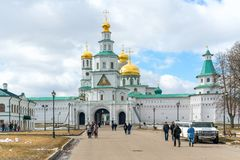 ISTRA, RUSSIA - May, 2017: The New Jerusalem Monastery, also known as the Voskresensky Monastery royalty free stock images