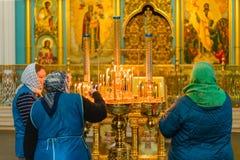ISTRA, RUSSIE - 23 mars 2019 : Le nouveau monastère de Jérusalem image stock