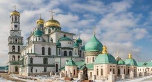 Istra Ryssland - Februari 02, 2016: Kloster i nya Jerusalem i vinter Royaltyfri Foto