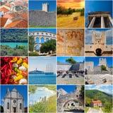 Istria地标和风景拼贴画 库存照片