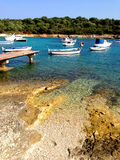 Istria coast - Croatia. Istria is the largest peninsula in the Adriatic Sea. The peninsula is located at the head of the Adriatic between the Gulf of Trieste and stock image