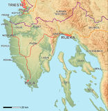 Istria Map Royalty Free Stock Images