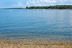 Istria peninsula beach in Porec Stock Photos