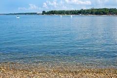 Istria peninsula beach in Porec Stock Photos