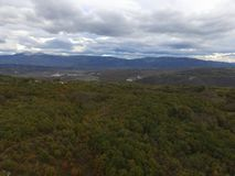 Istrian landskap - molnig dag Arkivfoto