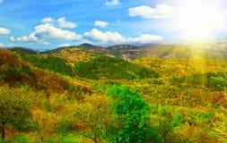 Istrian-Teil der Landschaft Stockfotografie