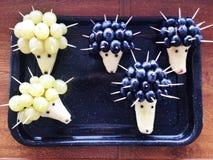 Istrice delle pere e dell'uva passa Fotografia Stock