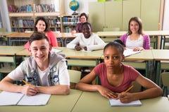 Istruisca gli allievi alla lezione nella scuola Fotografie Stock Libere da Diritti