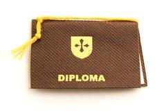 Istruisca il diploma immagini stock libere da diritti