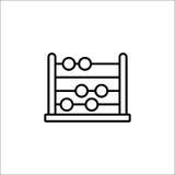 Istruisca la linea icona, istruzione e scuola dell'abaco illustrazione di stock