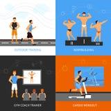 Istruttore Design Concept Set illustrazione vettoriale
