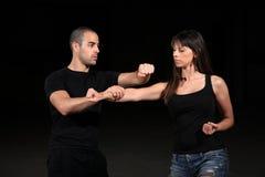 Istruttore di arti marziali Fotografie Stock