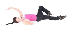 Istruttore di forma fisica isolato su bianco Fotografia Stock Libera da Diritti