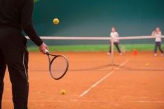 Istruttore di tennis Fotografia Stock Libera da Diritti