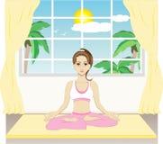Istruttore di yoga royalty illustrazione gratis