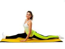 Istruttore femminile flessibile di yoga Immagine Stock Libera da Diritti