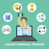 Istruttore personale online illustrazione vettoriale