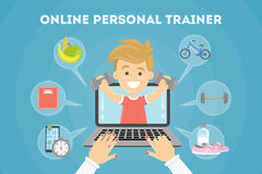 Istruttore personale online royalty illustrazione gratis