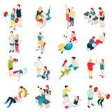 Istruttore personale Sport Icons royalty illustrazione gratis