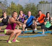 Istruttore Yelling di forma fisica di Boot Camp Fotografie Stock