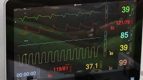 Istruttori, simulatori, fantasmi, manichini e robot medici virtuali - cardiomonitor stock footage
