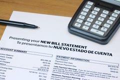Istruzione bilingue del Bill Immagini Stock Libere da Diritti