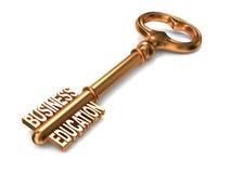 Istruzione di affari - chiave dorata. Immagine Stock