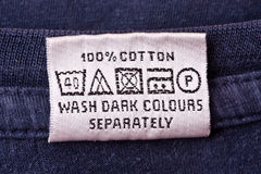 Istruzione di lavaggio Fotografie Stock