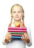 Istruzione - di nuovo alla scuola! Bambino sveglio Fotografie Stock