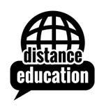 Istruzione a distanza nera Fotografia Stock