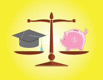 Istruzione e soldi Immagini Stock