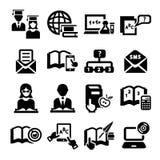 Istruzione   icone Fotografia Stock