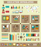Istruzione Infographic illustrazione di stock