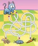 Istruzione Maze Game Immagine Stock