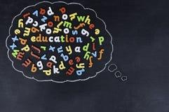 Istruzione nella bolla di pensiero Fotografia Stock Libera da Diritti