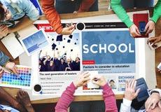 Istruzione scolastica che impara studiando concetto di conoscenza di saggezza Fotografia Stock