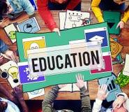 Istruzione scolastica che impara studiando concetto di conoscenza di saggezza Immagini Stock