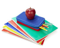 Istruzione scolastica dei righelli della cassa di matita Immagini Stock Libere da Diritti