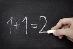 Istruzione scolastica dell'aula di per la matematica della lavagna Fotografie Stock