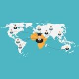 Istruzione scolastica di scuola di commercio nell'illustrazione di vettore di concetto dell'Africa Immagini Stock Libere da Diritti