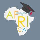 Istruzione scolastica di scuola di commercio nell'illustrazione di vettore di concetto dell'Africa Fotografia Stock Libera da Diritti