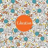 Istruzione senza cuciture del modello Immagine Stock Libera da Diritti