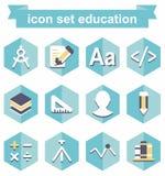 istruzione stabilita dell'icona Immagine Stock