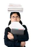 Istruzione superiore: allievo diligente Fotografie Stock Libere da Diritti