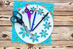 Istruzioni graduali per la fabbricazione di orologi fatti a mano Immagini Stock Libere da Diritti